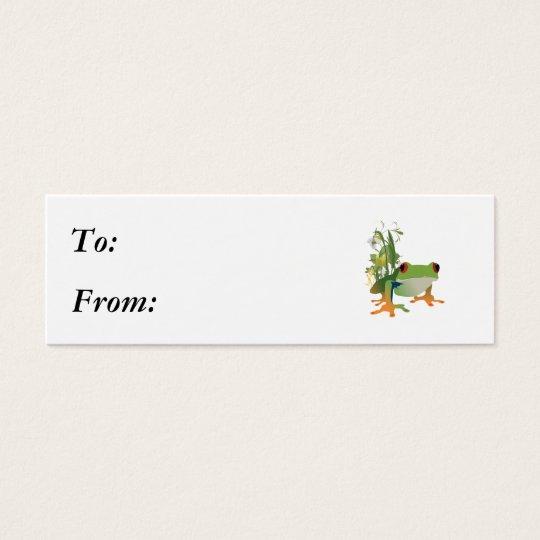 tropical frog vector design mini business card