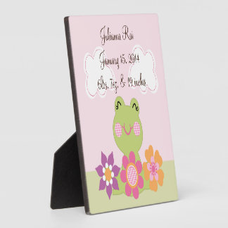 Tropical Frog with Flowers Keepsake Plaque
