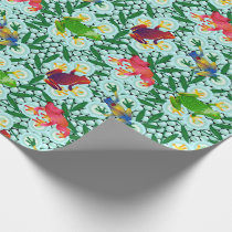 Tropical Frogs Bamboo Wrapping Paper