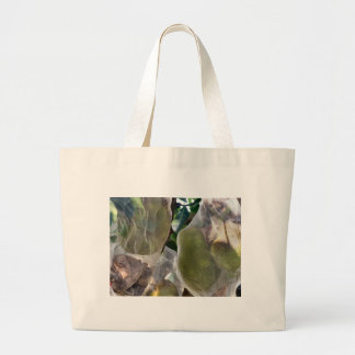 Tropical fruit and flowers tote bags