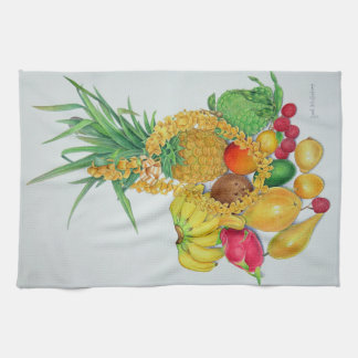 Tropical Fruit and Lei Hand Towel