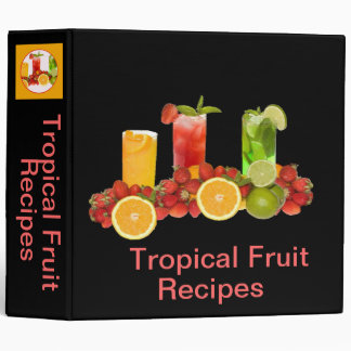 Tropical Fruit Avery Binder