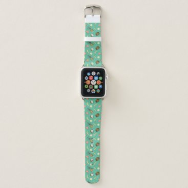 Hawaiian Themed Tropical Fruit Doodle Pattern Apple Watch Band