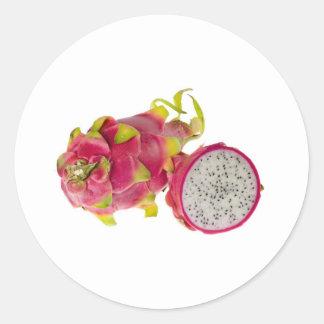 Tropical fruit - Dragonfruit Classic Round Sticker