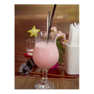 Tropical Fruit Drink Postcard