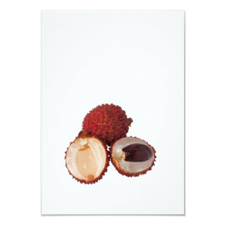 Tropical fruit - Lychee 3.5x5 Paper Invitation Card