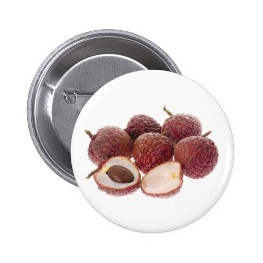 Tropical fruit - Lychees Pinback Buttons
