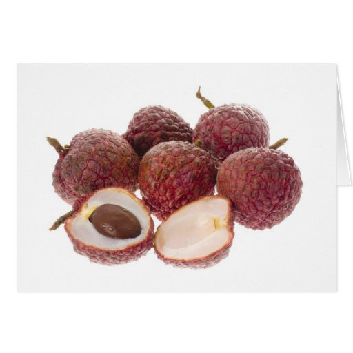 Tropical fruit - Lychees Greeting Card