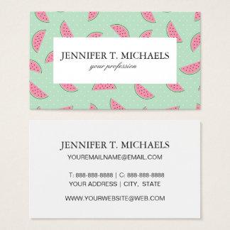 Tropical Fruit Paint Splatter Pattern Business Card