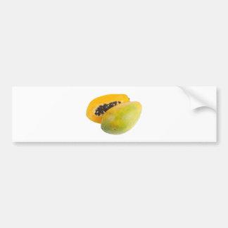 Tropical fruit - Papaya Bumper Sticker
