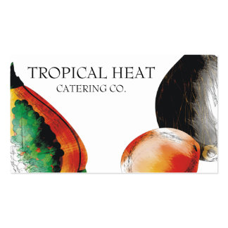 tropical fruit papaya chef catering business cards
