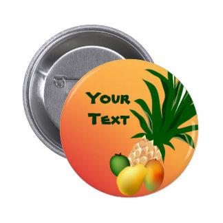 Tropical Fruit Party Button