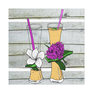 Tropical fruit shakes gallery wrapped canvas