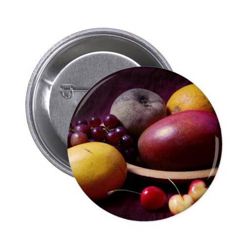 Tropical Fruit Still Life Buttons