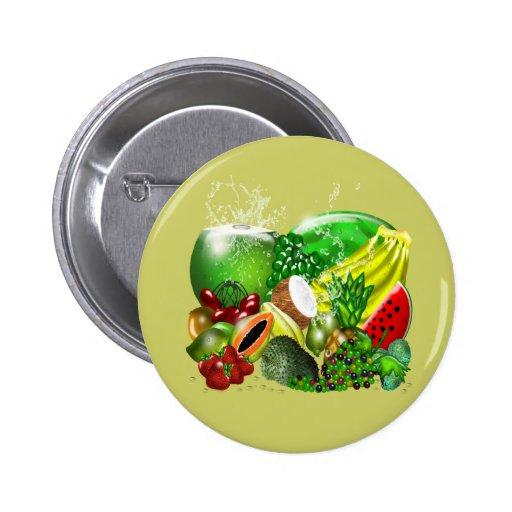 Tropical Fruits Button