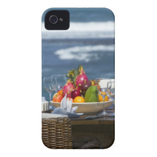 Tropical Fruits By The Ocean On Table Case-Mate iPhone 4 Case