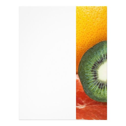"Tropical fruits: kiwi and grapefruit 8.5"" x 11"" flyer"