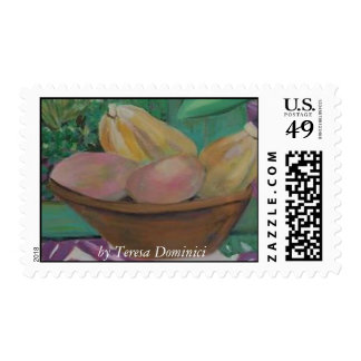 Tropical fruits postage stamp