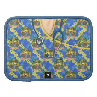 Tropical Fun Floral Medical Scrubs Planners
