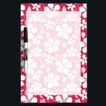 """Tropical Fuschia Floral Pattern Dry Erase Board<br><div class=""""desc"""">You will love this cute,  elegant  Tropical Fuschia Hibiscus; floral pattern  pattern design!  We invite you to our store,  Pattern Palace,  to view this cool pattern on many more great customizable products,  including girly birthday cards,  modern invitations,  and trendy wedding RSVP cards!  Thank you!</div>"""