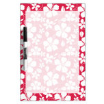 Tropical Fuschia Floral Pattern Dry Erase Whiteboards