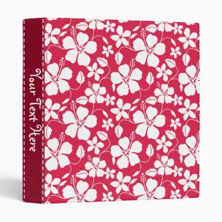 Tropical Fuschia Floral Pattern Vinyl Binders