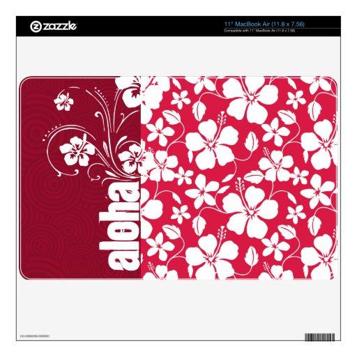 """Tropical Fuschia Hibiscus; Aloha 11"""" MacBook Air Skin"""
