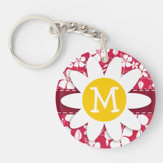 Tropical Fuschia Hibiscus; Daisy Acrylic Keychains