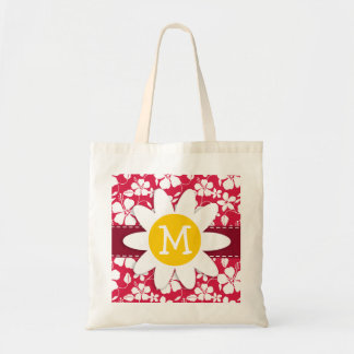 Tropical Fuschia Hibiscus; Daisy Budget Tote Bag