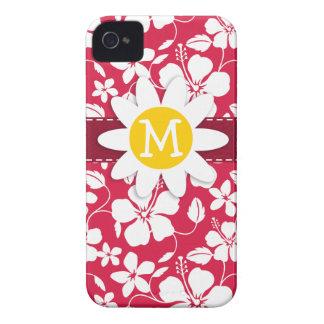 Tropical Fuschia Hibiscus Daisy iPhone 4 Case-Mate Cases