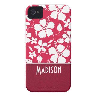 Tropical Fuschia Hibiscus floral Case-Mate iPhone 4 Cases