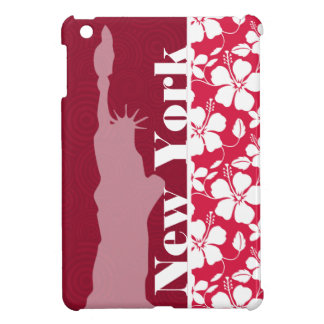 Tropical Fuschia Hibiscus; Statue of Liberty Cover For The iPad Mini
