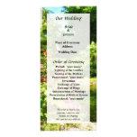 Tropical Garden by Lake Wedding Program Customized Rack Card