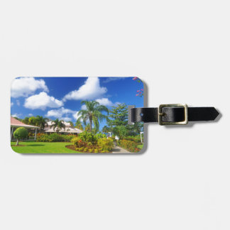 Tropical garden luggage tag