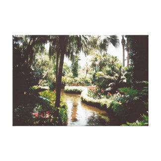 Tropical Garden Paradise Canvas Print
