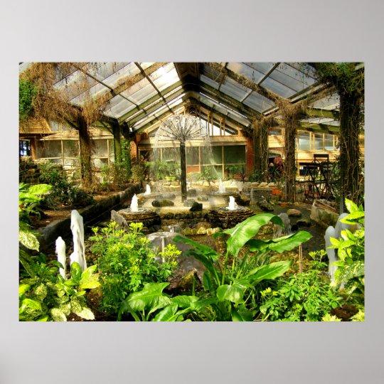 Tropical garden under glass poster