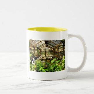 Tropical garden under glass Two-Tone coffee mug
