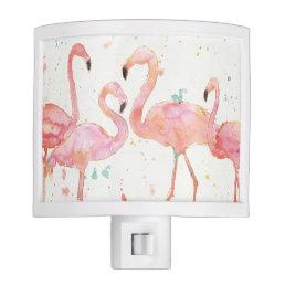 Tropical | Gathering of Flamingos Night Light