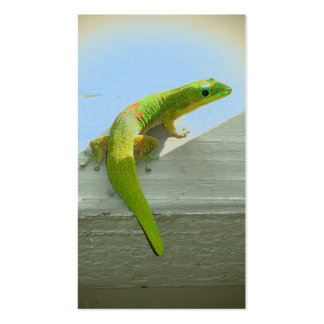 Tropical gecko customizable business cards