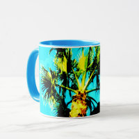 Tropical Getaway Palm Trees Summer Vacation Mug