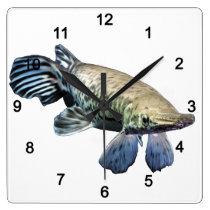 Tropical Giant Gar Square Wall Clock