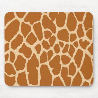 Tropical giraffe skin print mouse pad