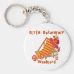 Tropical Girls Getaway Weekend Basic Round Button Keychain