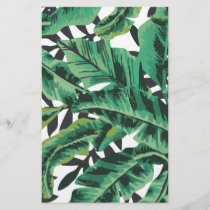 Tropical Glam Banana Leaf Pattern