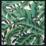 "Tropical Glam Banana Leaf Pattern Cloth Napkin<br><div class=""desc"">Inspired by the iconic,  Martinique banana leaf wallpaper at the Beverly Hills Hotel,  this print was designed using watercolor to create a colorful,  tropical print.</div>"