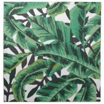 Tropical Glam Banana Leaf Pattern Cloth Napkin