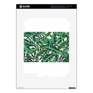 Tropical Glam Banana Leaf Pattern iPad 3 Skins