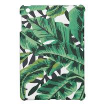Tropical Glam Banana Leaf Pattern iPad Mini Cover