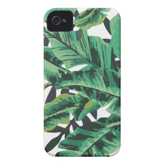 Tropical Glam Banana Leaf Pattern iPhone 4 Case-Mate Case