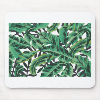 Tropical Glam Banana Leaf Pattern Mouse Pad